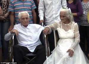old wedding couple